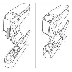 Apoyabrazos específico AR9 para Fiat 500 / S / C (2016-)