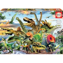 Puzzle Educa 500 piezas Dinosaurios Multicolor
