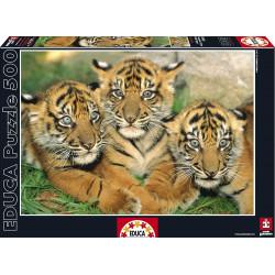 Puzzle Educa 500 piezas Pequeños Tigres