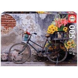 Puzzle Educa 500 piezas Bicicleta con Flores