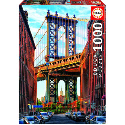 Puzzle Educa 1000 piezas Puente de Manhattan