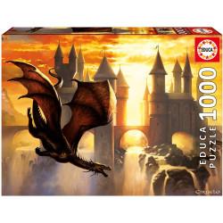 Puzzle Educa 1000 piezas Sunset Dragon
