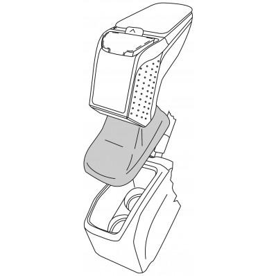 Apoyabrazos específico AR9 para Peugeot 208 (2012-)